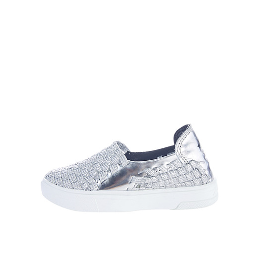 Metallic Woven Slip-On Kids 814SLK